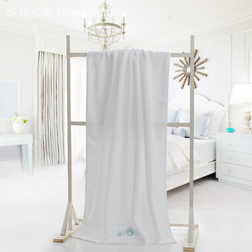 White Hotel Bath Towels with Starfish Embroidery